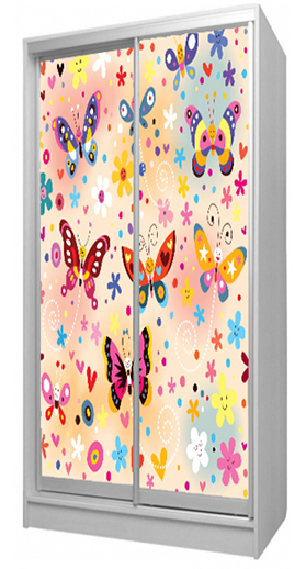 купить детскую шкаф купе бабочки в украине киеве харькове